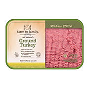Farm to Family Ground Turkey, 2.5 lbs.
