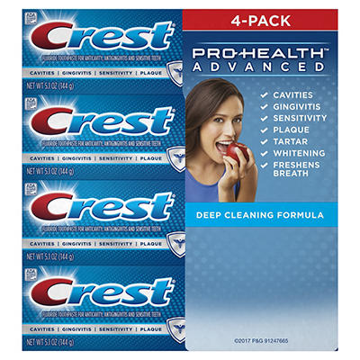 Crest Pro-Health Advanced Deep Clean Mint Toothpaste, 4 pk./5.1 oz.