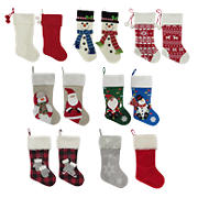 Berkley Jensen Christmas Stocking, 2 pk. - Assorted