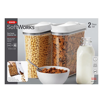 The OXO Good Grips POP Cereal Dispensing Container, 2 pk.