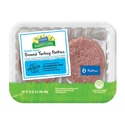 Perdue Harvestland Ground Turkey Patties, 6 ct.