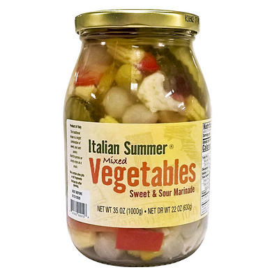 Italian Summer Mixed Pickled Vegetables, 35 oz.