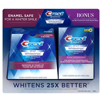 Crest 3D White Whitestrips Glamorous White, 14 ct. with Bonus Crest 3D