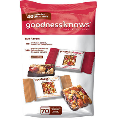 Goodness Knows Snack Squares, 70 ct.