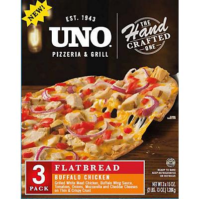 UNO Pizzeria and Grill Buffalo Chicken Flatbread Pizza, 3 pk.