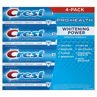 Crest Pro-Health Whitening Power Toothpaste, 4 pk./6.3 oz.