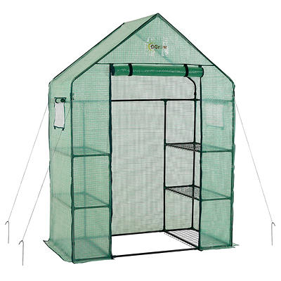 Ogrow Deluxe Walk-in 3-Tier 6-Shelf Portable Greenhouse