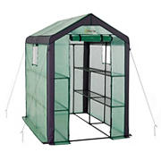 Ogrow Heavy-Duty Walk-in 2-Tier 8-Shelf Portable Lawn and Garden Greenhouse