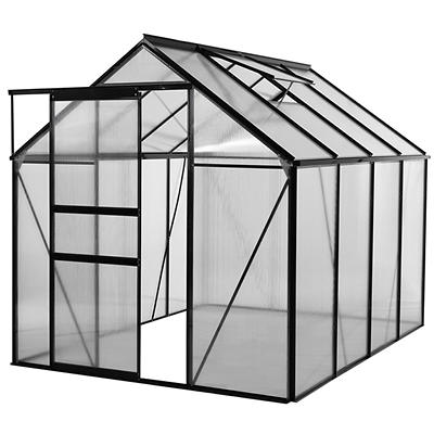 Ogrow Walk-in 6' x 8' Lawn and Garden Greenhouse with Heavy-Duty Alumi