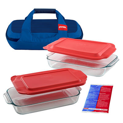 Pyrex Portables 6-Pc. Bakeware Set with Carrier