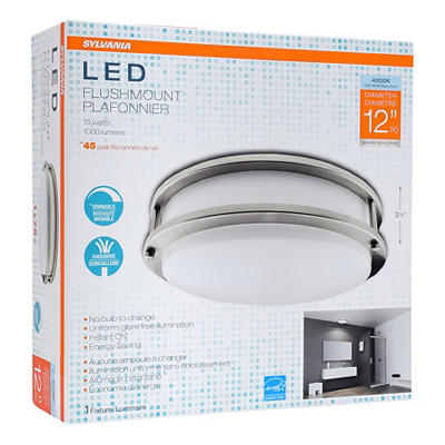 "Sylvania 12"" Round Flush Mount LED Ceiling Fixture"