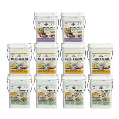 Augason Farms Deluxe Emergency Food Supply, 1 Months, 4 People