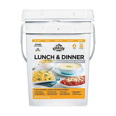 Augason Farms Lunch & Dinner Emergency Food Supply, 4 gal.