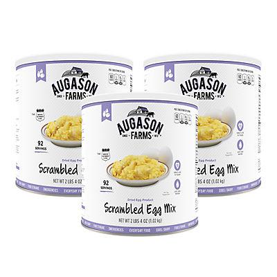 Augason Farms Scrambled Egg Mix #10 Can, 3 pk./36 oz.