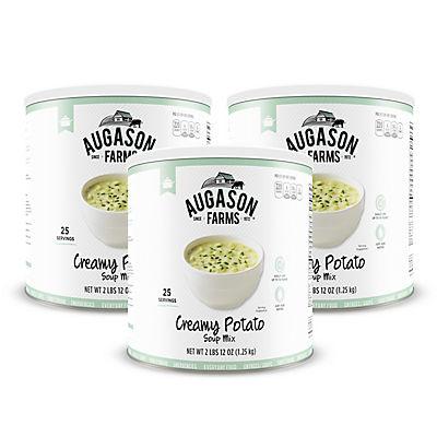 Augason Farms Creamy Potato Soup Mix #10 Can, 3 pk./44 oz.