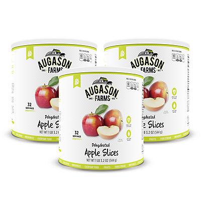 Augason Farms Dehydrated Apple Slices #10 Can, 3 pk./19.2 oz.