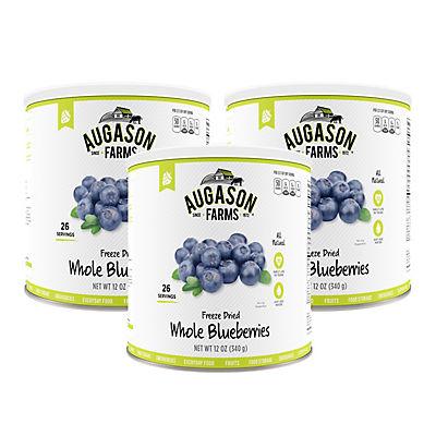 Augason Farms Freeze-Dried Whole Blueberries #10 Can, 3 pk./12 oz.