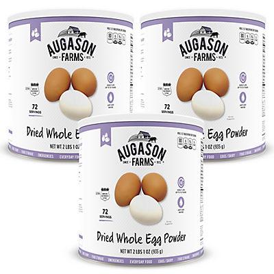 Augason Farms Dried Whole Egg #10 Can, 3 pk./33 oz.