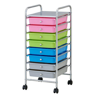 8-Drawer Rolling Cart - Multicolor