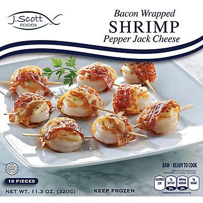 J. Scott Foods Bacon Wrapped Shrimp, 11.3 oz.