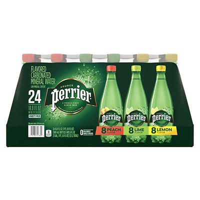 Perrier Sparkling Natural Mineral Water, Assorted Flavors, 24 ct./16.9