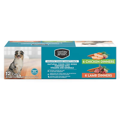 Berkley Jensen All Natural Canned Lamb & Chicken Holistic Recipe for D