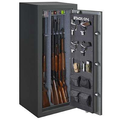 Stack-On Total Defense 24-Gun Fire Safe with Electronic Lock - Gray Pe