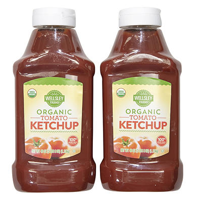 Wellsley Farms Organic Tomato Ketchup, 2pk./40 oz.