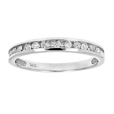 Amairah .25 ct. t.w. Diamond Comfort Fit Band in 14k White Gold, Size