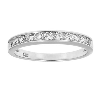 Amairah .50 ct. t.w. Diamond Comfort Fit Band in 14k White Gold, Size