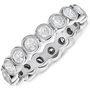 Amairah 1.50 ct. t.w. Diamond Eternity Ring in 14k White Gold, Size 7