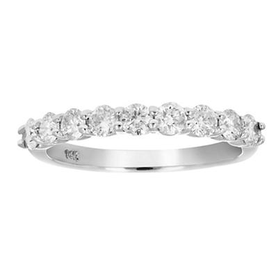 Amairah .75 ct. t.w. Diamond Wedding Band in 14k White Gold, Size 5