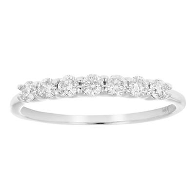 Amairah .50. ct. t.w. Diamond Wedding Band in 14k White Gold, Size 9