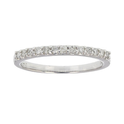 Amairah .20 ct. t.w. Diamond Wedding Band in 14k White Gold, Size 5