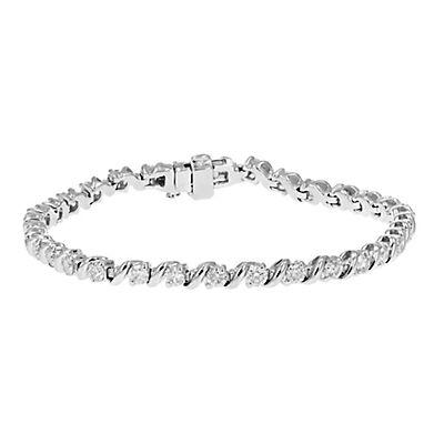 Amairah 3.00 ct. t.w. Diamond S-Link Bracelet in 14k White Gold