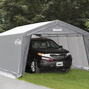 Shelter-It 10' x 20' Steel/Fabric Instant Garage - Gray/White