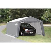 Shelter-It 12' x 20' Steel/Fabric Instant Garage - Gray/White