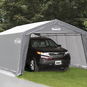 Shelter-It 12' x 24' Steel/Fabric Instant Garage - Gray/White