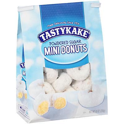 Tastykake Powdered Sugar Mini Donuts, 10 oz.