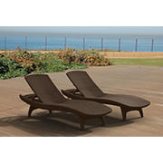 Keter Pacific Sun Chaise Loungers, 2 pk. - Whiskey Brown