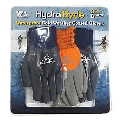 Wells Lamont HydraHyde Coated Winter Gloves, 3 pk.