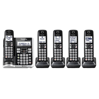 Panasonic Link2Cell DECT 6.0 5-Handset Cordless Phone with Caller ID a
