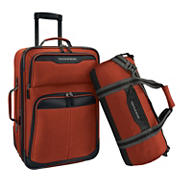 U.S. Traveler 2-Pc. Upright and Duffel Luggage Set - Salmon