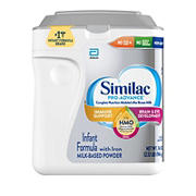Similac Pro-Advance Non-GMO with 2-FL HMO Infant Formula with Iron Powder, 34 oz.