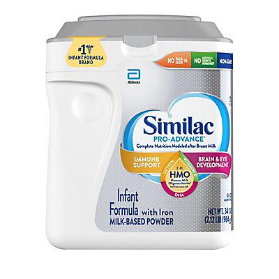 Similac Pro-Advance Non-GMO with 2-FL HMO Infant Formula with Iron Powder, 34 oz.