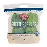Wellsley Farms Green Peppers, 4 ct.