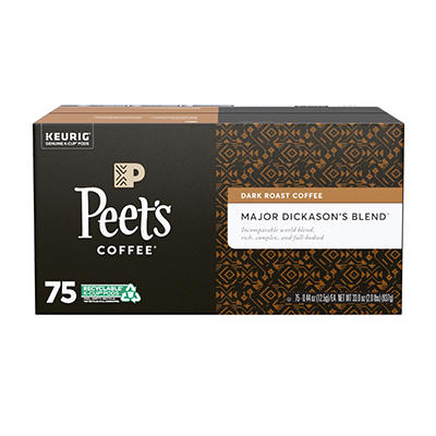 Peet's Major Dickason's Blend Coffee K-Cup Pods, 75 ct.