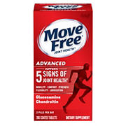 Move Free Joint Health Advanced Glucosamine Chondroitin Dietary Supplement, 200 ct.