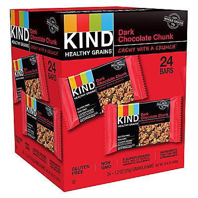 KIND Healthy Grains Dark Chocolate Chunk, 24 ct.