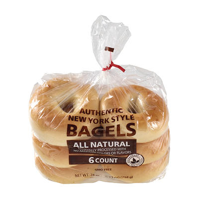 Wellsley Farms Plain Bagels, 6 ct.